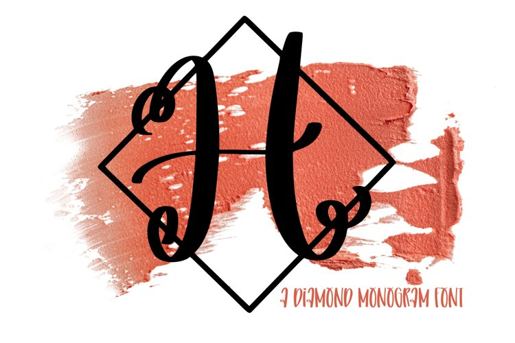A Diamond Monogram Font example image 1