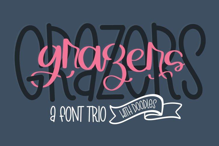 Grazers - A Script Print & Doodle Font Trio! example image 1