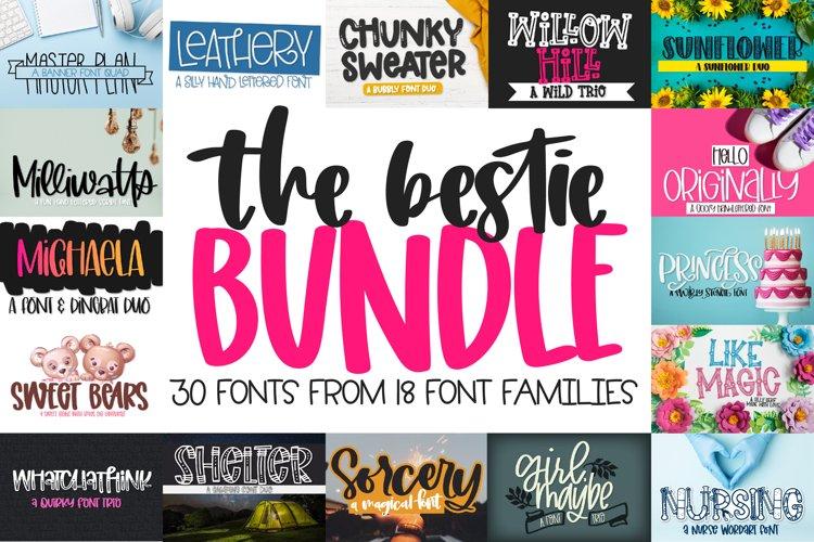 The Bestie Bundle - 30 Font Bundle! Craft friendly fonts!