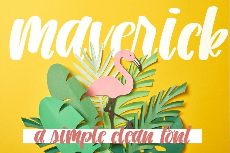 Maverick - A Simple Clean Font example image 1