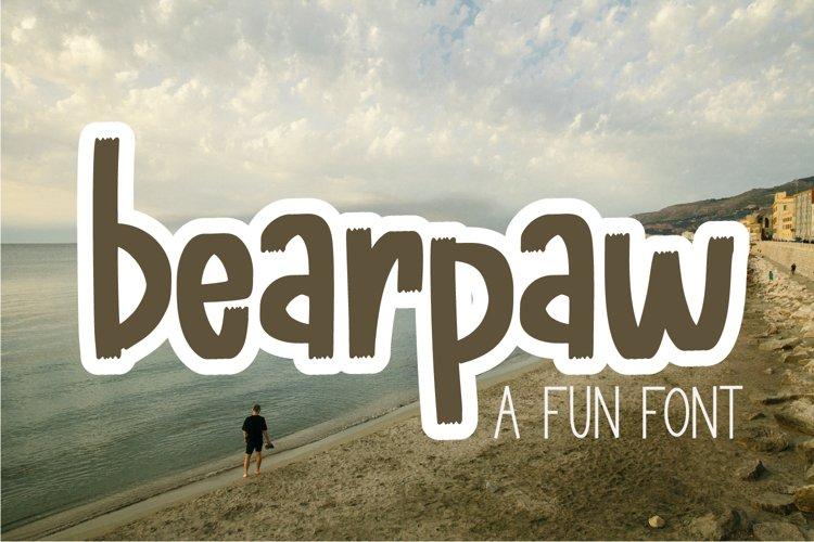 bearpaw - A fun tapered font