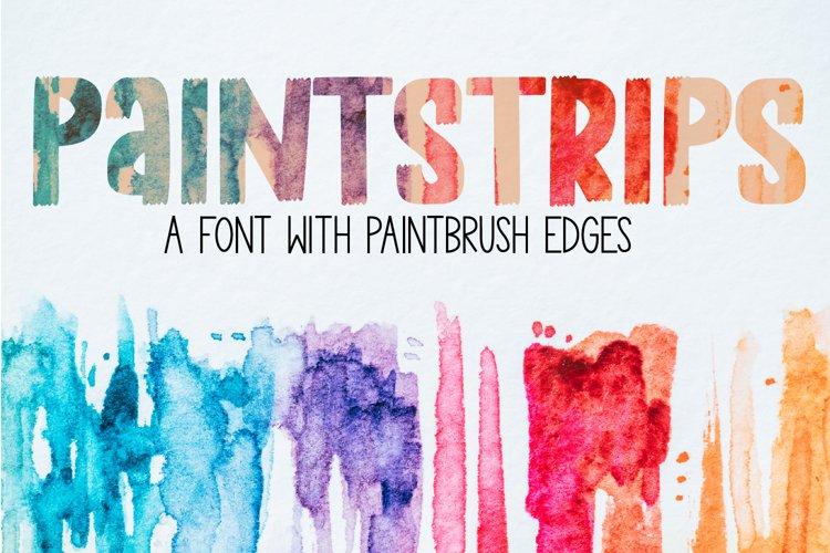 Paint Strips - A Paint Brush Font