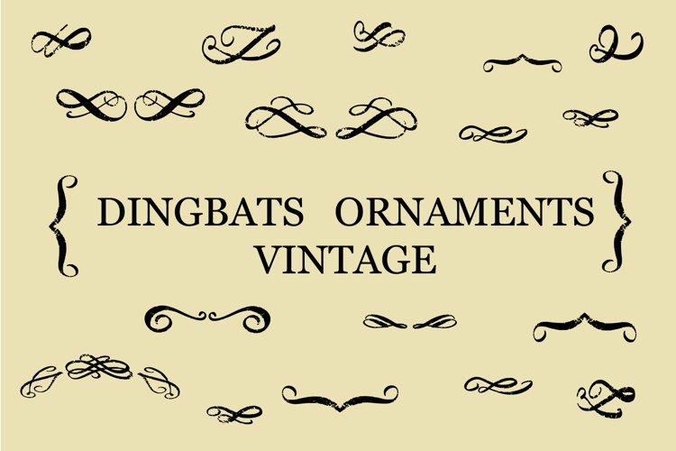 dingbats ornaments vintage example image 1