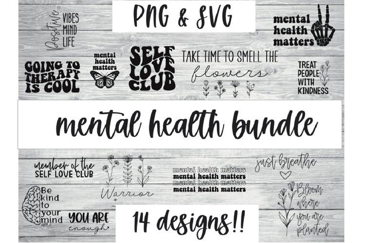 Mental health bundle SVG, positive SVG, mental health svg