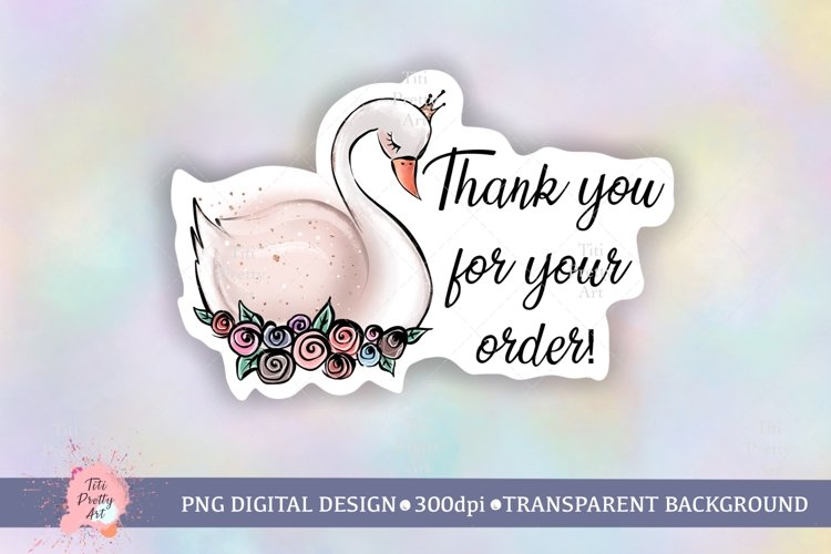 Thank you for your order sticker png, Thank you card png