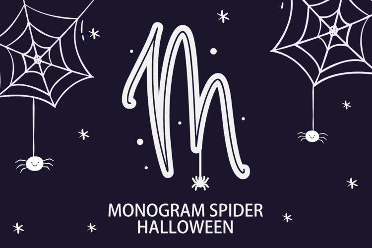 Monogram Spider Halloween Font example image 1