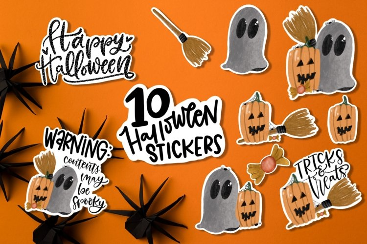 Halloween stickers set - 10 high quality stickers!