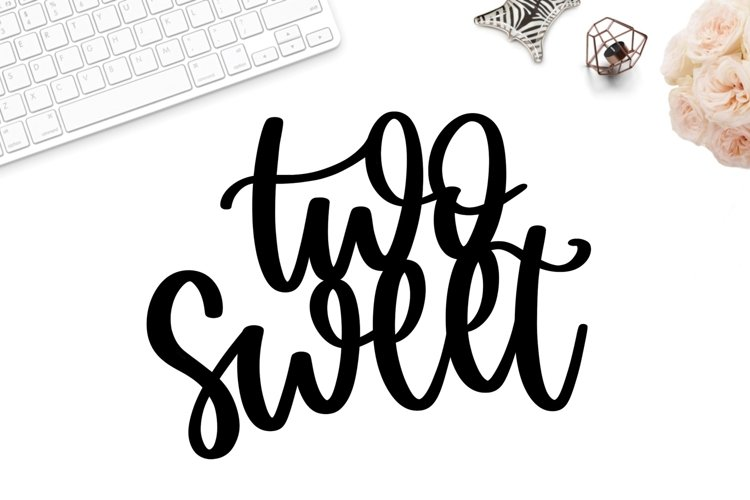 Two sweet cake topper svg, 2nd birthday cake topper svg, png