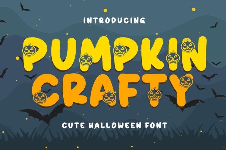Pumpkin Crafty - Halloween Font example image 1