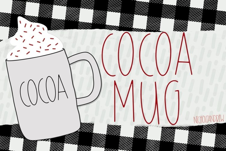 Cocoa Mugs - An All Caps Font example image 1
