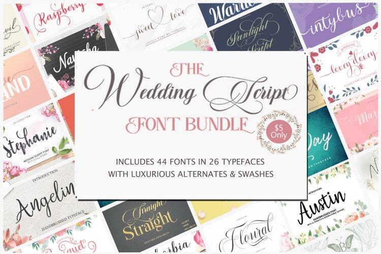The wedding Script Font Bundle