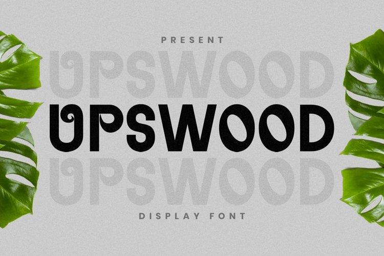 Web Font Upswood Font example image 1