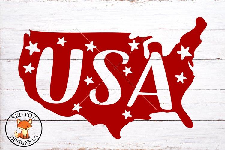 USA MAP SVG, 4th of July, Stars SVG File