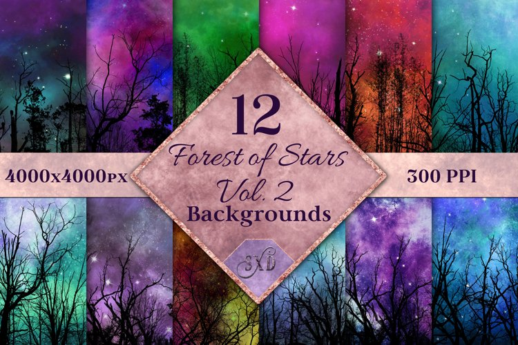 Forest of Stars Vol. 2 Backgrounds - 12 Image Textures Set example image 1
