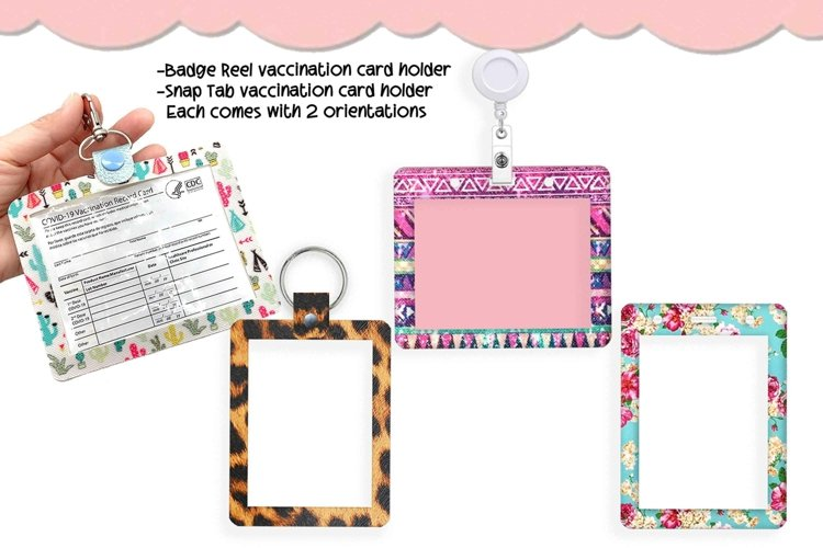 4 Style Vaccination Cardholders Snap Tab Vaccination Sleeve