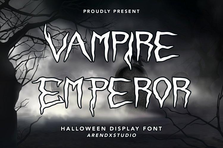 Vampire Emperor - Halloween Display Font example image 1
