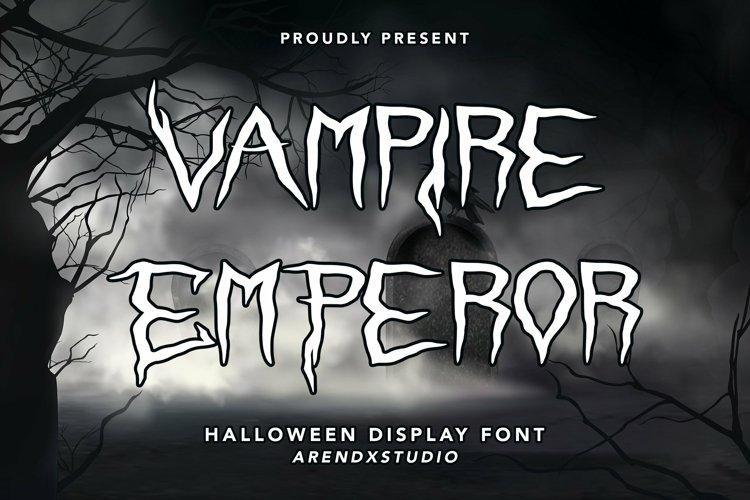 Web Font Vampire Emperor - Halloween Display Font example image 1
