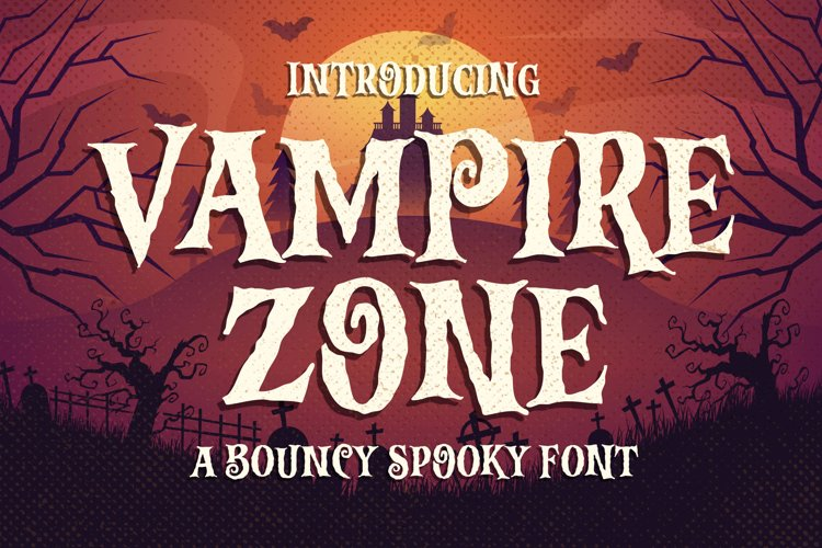 Vampire Zone a Bouncy Spooky Font example image 1