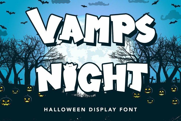 Web Font Vamps Night - Halloween Display Font example image 1
