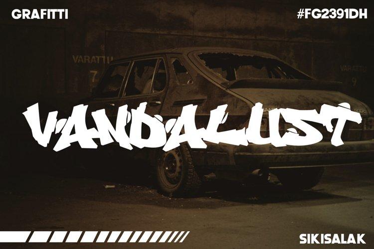 Vandalust Graffiti Font example image 1