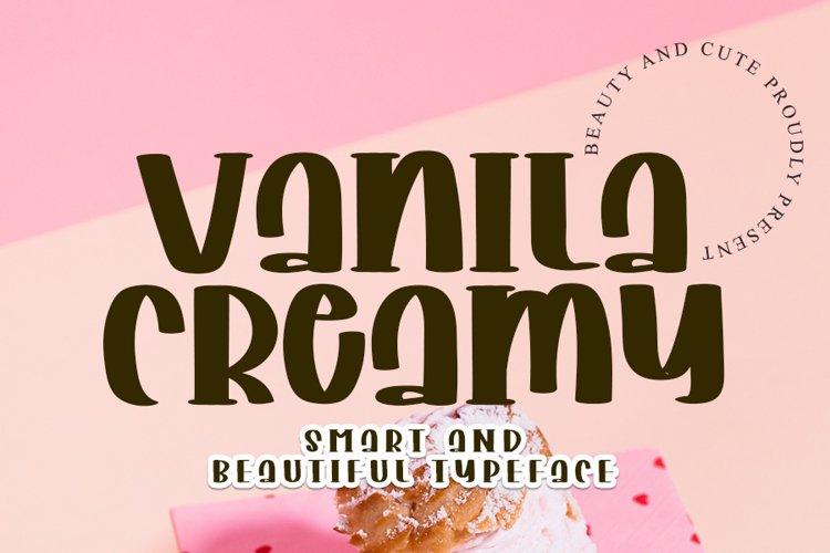 Vanila Creamy - Web Font example image 1