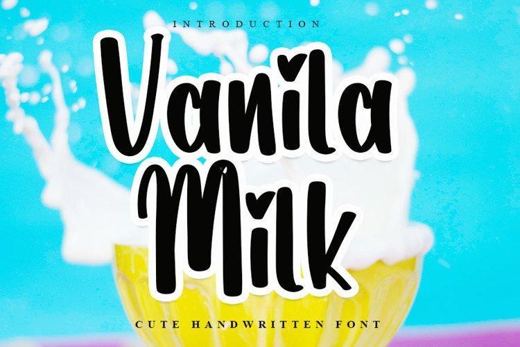 Vanila Milk - Cute Handwritten Font example image 1