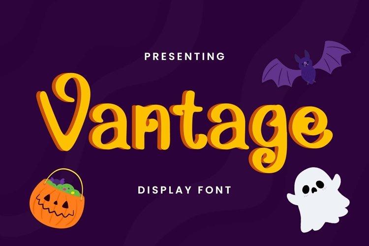 Web Font Vantage - Halloween Font example image 1
