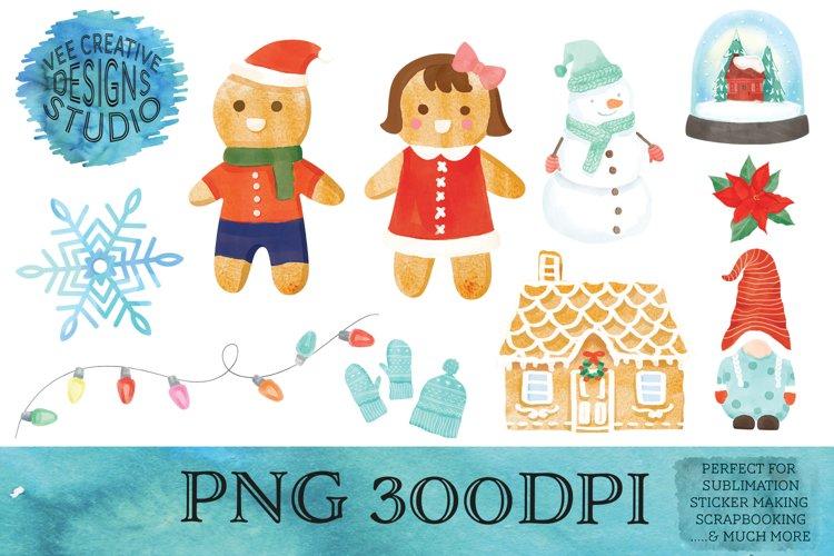 Christmas Sublimation Watercolor Clipart Bundle Part 2