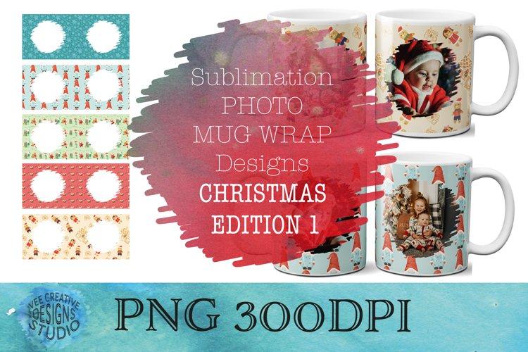 Christmas Sublimation Mug Template Bundle | Photo Template - Free Design of The Week Font