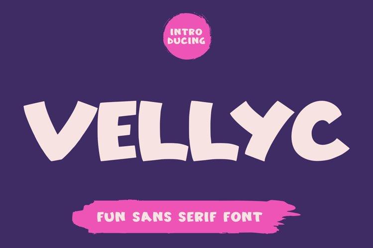 Vellyc - Fun Sans Serif Font example image 1