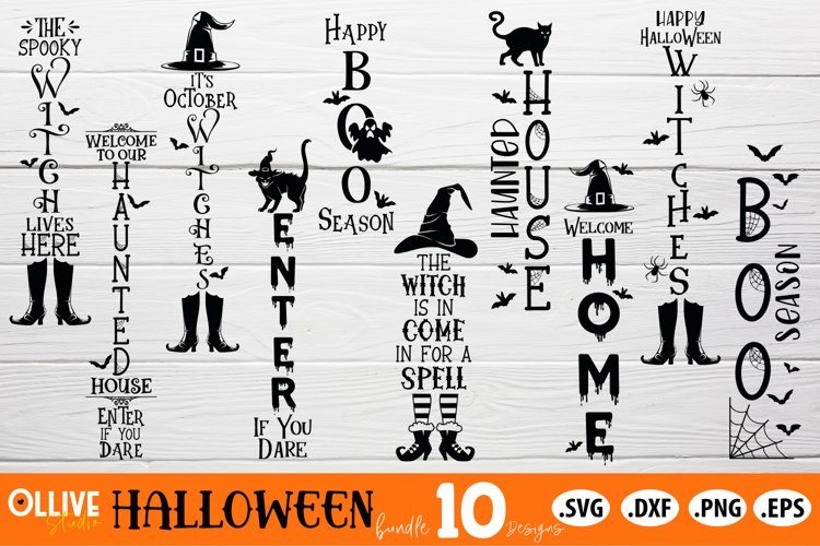 Halloween Bundle SVG | Halloween Vertical Sing SVG example image 1