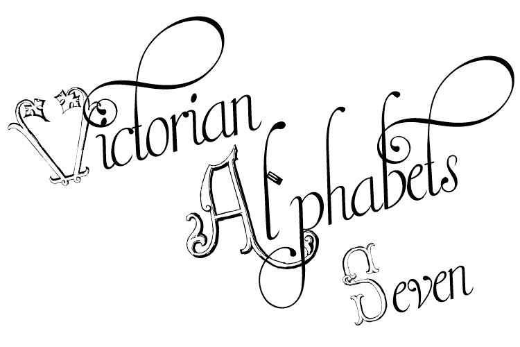 Victorian Alphabets Seven example image 1