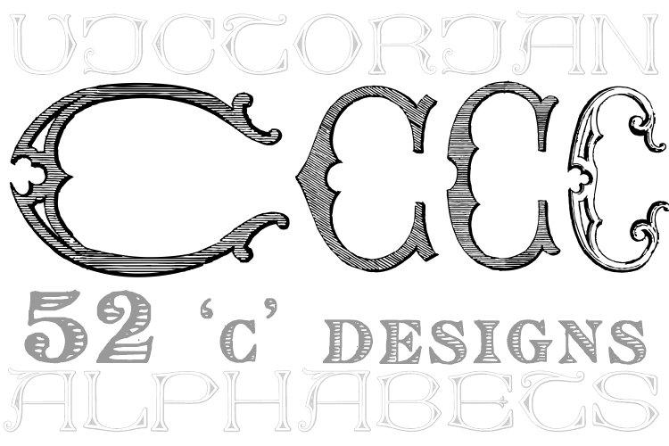 Victorian Alphabets C example image 1