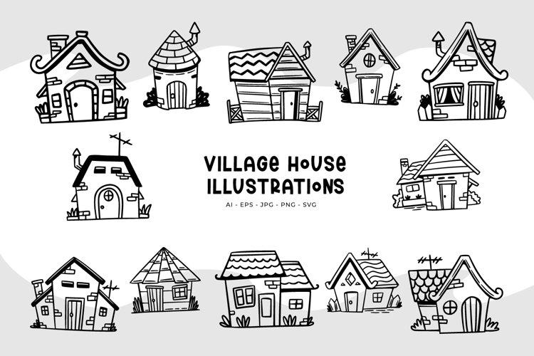 Village House Illustrations