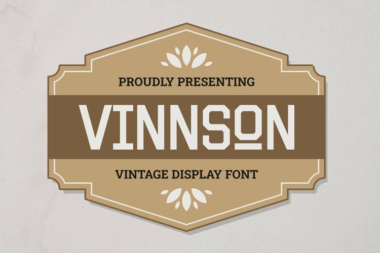 Web Font Vinnson example image 1