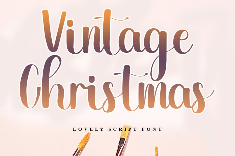 Vintage Christmas - Lovely Script Font example image 1