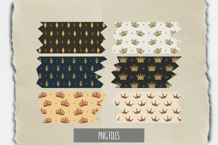 Vintage Crown Seamless Pattern Tape example image 1