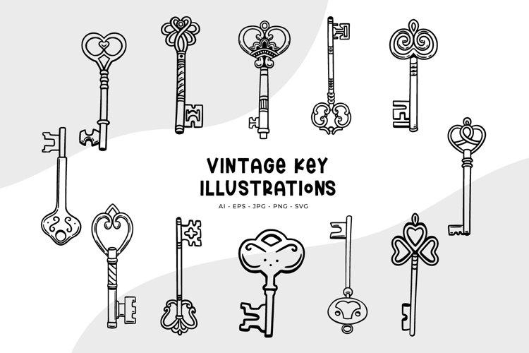 Vintage Key Illustrations