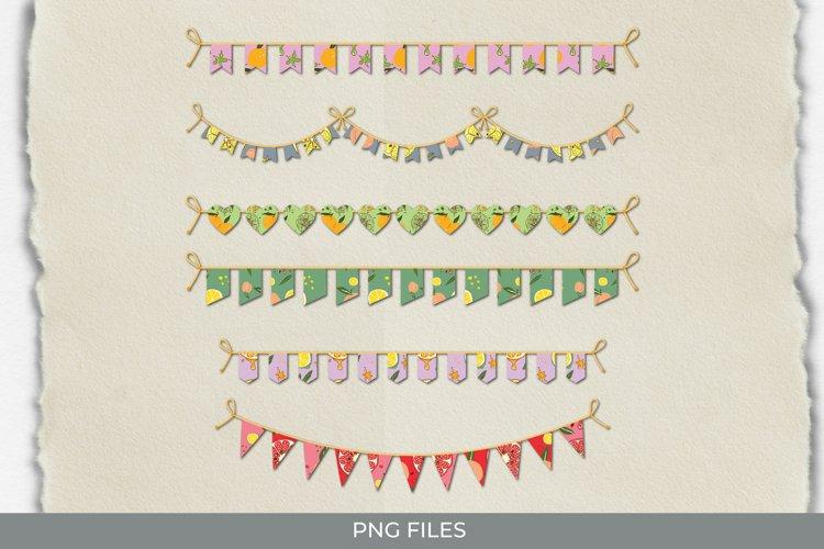 Vintage Orange Seamless Pattern Bunting Banner example image 1