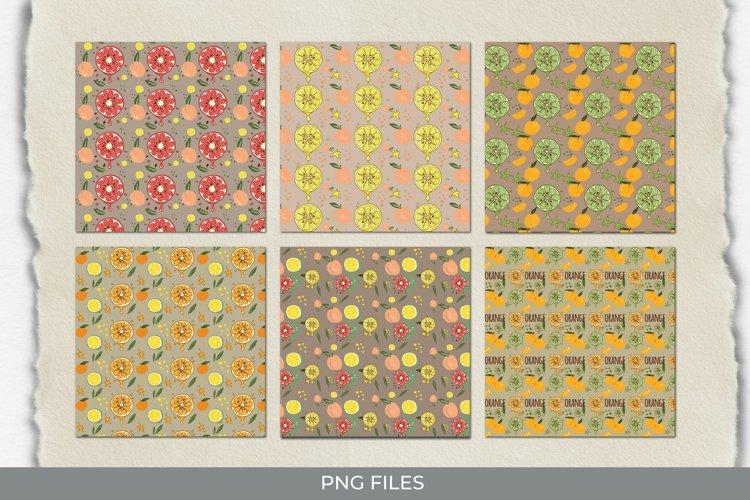 Vintage Orange Seamless Pattern Paper Pack example image 1