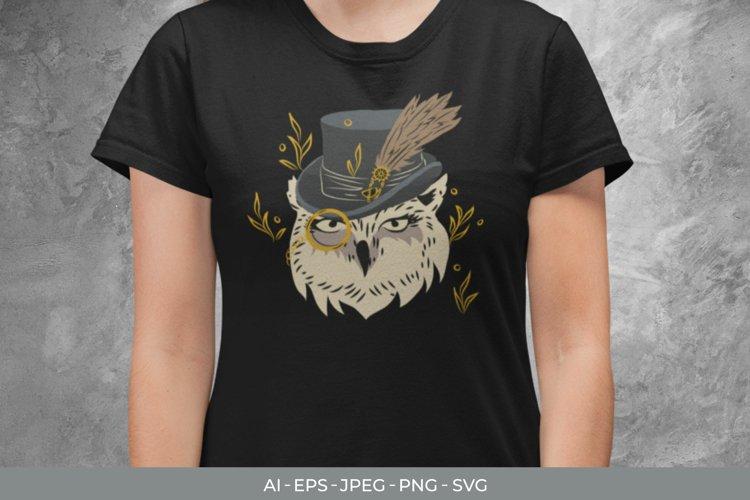 Vintage Rich Owl SVG