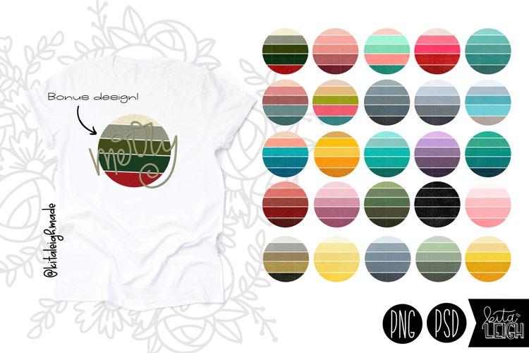 Vintage Gradient Circle Elements for Sublimation Backgrounds