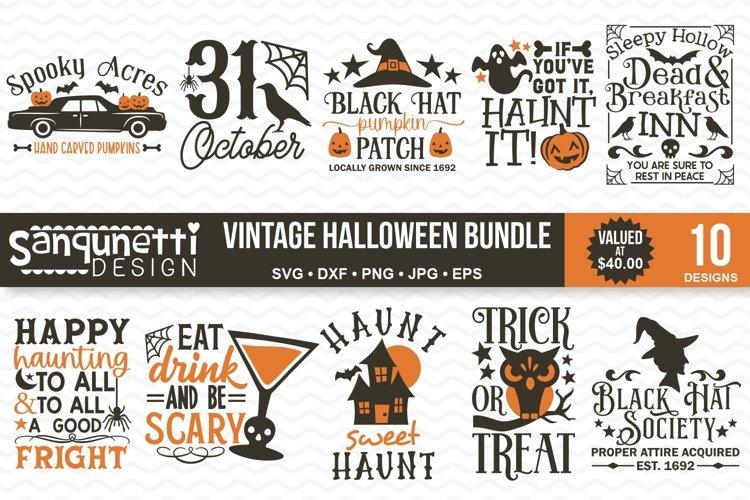 Vintage Halloween SVG Bundle- 10 designs