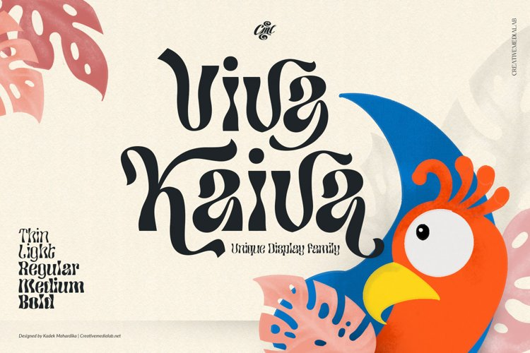 Viva Kaiva - Unique Psychedelic Font example image 1