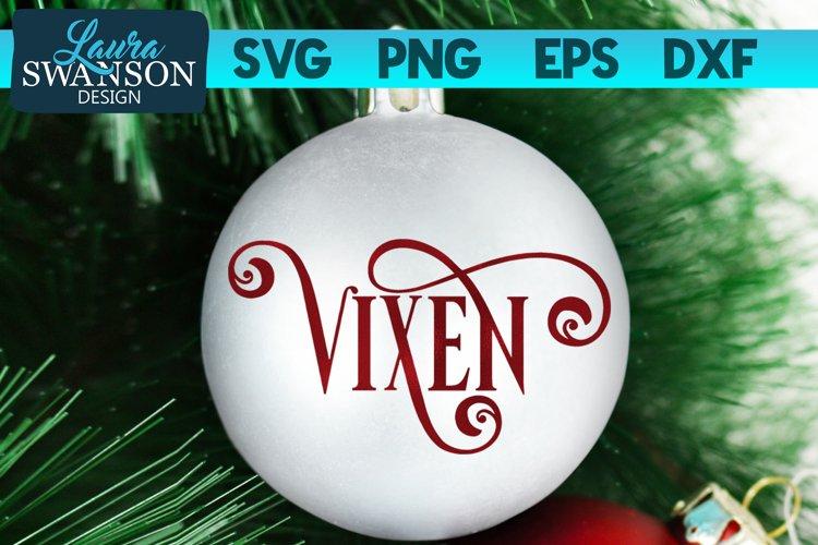 Reindeer Vixen SVG Cut File   Christmas Ornament SVG example image 1