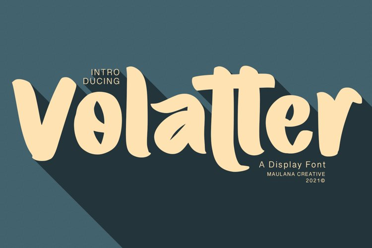 Volatter Display Font example image 1