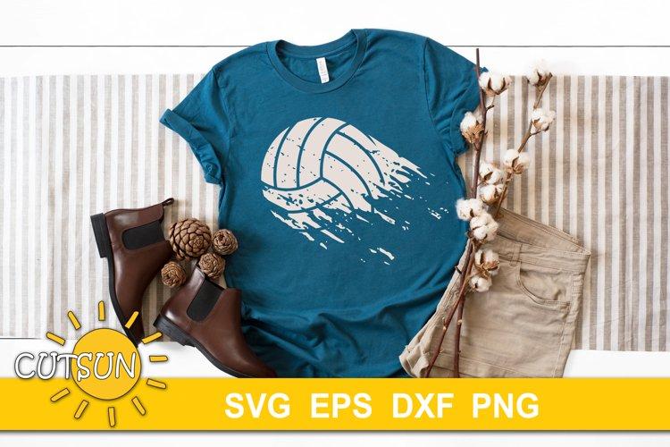 Volleyball SVG Distressed | Volleyball Brushstroke SVG