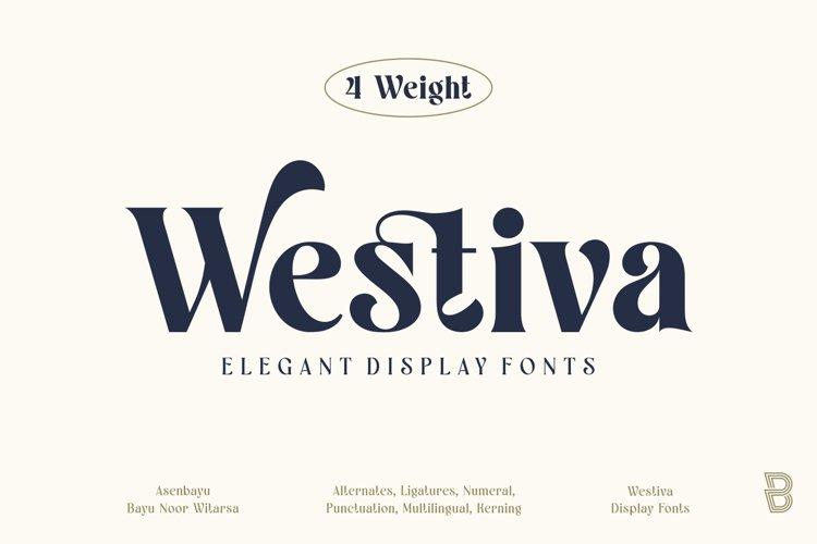 Westiva - Elegant Display Fonts Family example image 1