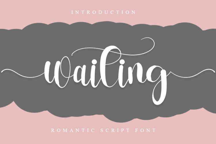 Waiting | Romantic Script Font example image 1