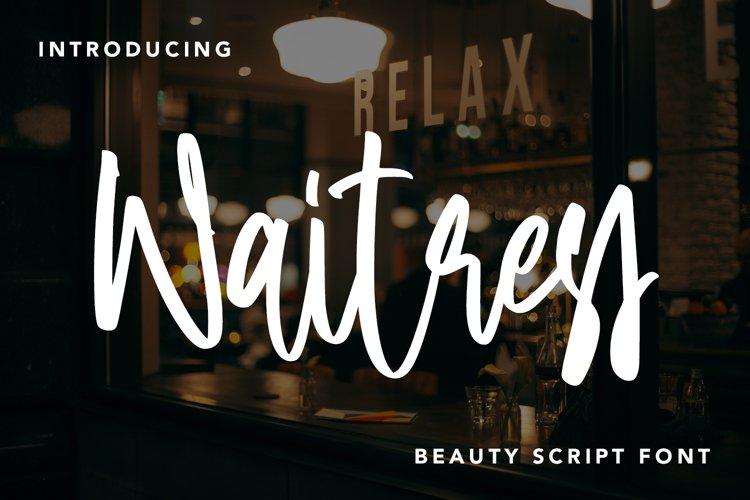 Waitress - Beauty Script Font example image 1